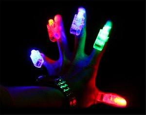 Wholesale The Cheapest Laser Finger Light LED Light Laser Finger Lamp Beams Ring Torch For Party XColors with