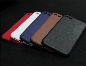 Wholesale 100PCS MM Leather line Anit fingerprint anti shock TPU Shockproof Phone Case Cover for iPhone X s Plus free DHL