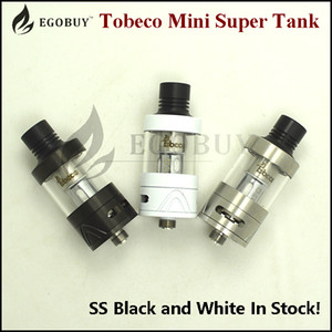 Wholesale super tank atomizer for sale - Group buy 100 original Tobeco Super Tank Mini ml atomizer ss black White supertank for pico x baby mod rx75 rx200s rx23 vt200 rx2