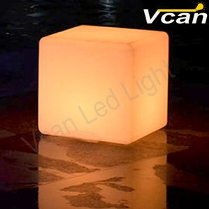 Wholesale 4PCS DHL cm waterproof rgb colors change remote control led cube table night light lamp