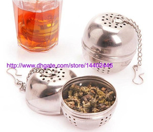 Wholesale 50pcs Kitchen Accessories Stainless Steel Tea Infuser Leaf Filter Dining Stainless Steel Ball for Tea Balls Taste Pot Spices Cooking Tools