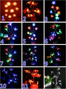 Wholesale Free EMS DIY cm High D LED LIGHT UP Tree Light Glow Night Light Lamp Wedding Party Disco Christmas Light Candle Decoration Nice Box