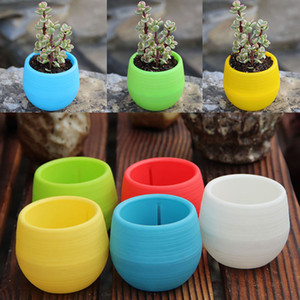 Wholesale Plastic Mini Plant Flower Pot Home Garden Office Decor Planters Easy To Carry Patio Lawn Garden Supplies WX9