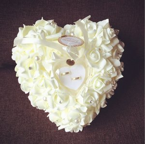 Wholesale 26cm cm cm New Arrivals Elegant Rose Wedding Favors Heart Shaped Design Gift Ring Box Pillow Cushion