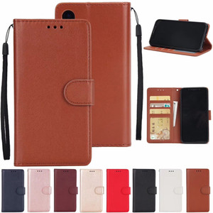 Wholesale PU Leather Flip Wallet Case With Card Slot For iPhoneXs Xr Max X PLUS Samsung S8 S7 Soft Back Protective Shell