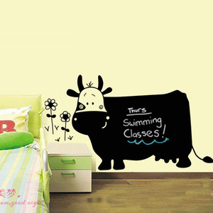 Wholesale 2016 Hot Creative Cow pvc big green wall stickers cartoon stickers blackboard teaching children painting erasable