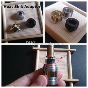 Wholesale 510 heat sink for sale - Group buy Heat Sink Drip Tip Atomizer Adapter Heatsink Adaptor Bottom Attached thread Heat Dissipation Mouthpieces Connector for Vapor RDA E cig