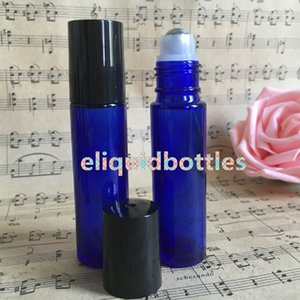 Wholesale blue bottles for sale resale online - Empty ML Blue Roller Glass Bottles OZ Refillable Roll On for Fragrance Essential Oil Popular Sale in Australia