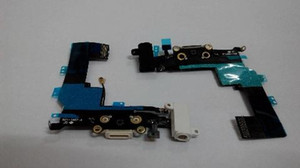 Wholesale Charging flex cable for iphone s headphone Audio Jack USB port dock connector flex cable