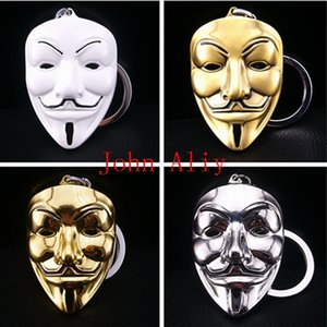 Wholesale cheap price V key chain keyring Movie V for Vendetta mask around the keychain pendant