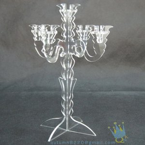 Wholesale CH (8)-2 clear 18x35cm votive acrylic candle stand