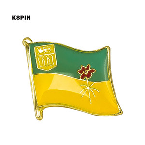 Free shipping the SASKATCHEWAN Metal Flag Badge Flag Pin KS-0126