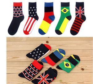 Wholesale USA UK national flag Socks man and women Sport Socks Ship anklet socks Men Fashion Walking Running Tennis Sports Sock