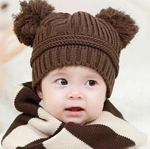 Wholesale hand crochet baby hat resale online - Children Caps Kids Knitted Winter Caps Beanie Hat Baby Crochet Hats Boys Girls Animal Cute Hats Boy Girl Wool Cap Hand Knitted beanies