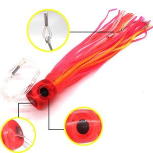 Wholesale Great inch Soft Resin Head with Double Octopus Skirt and Hook Rig Lure Trolling bait Fishing Lure