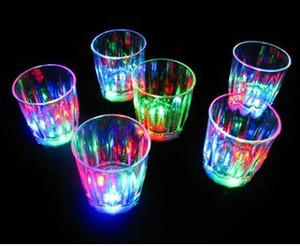 Wholesale beer glasses free shipping for sale - Group buy LED shot glass flashing shot glasses luminous cup birthday party Halloween Chirstmas gift decoration wine glass beer glass