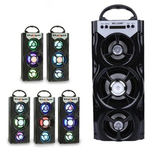 Wholesale New Arrival Outdoor Portable Wireless Bluetooth Speakers MS BT Eonec FM Radio AUX LCD Screen LED Shinning TF Card Music Playing