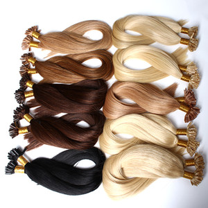 "Top Grade 8A Grade U-Tip Hair Extensions Straight Hair Weave 20""24"" #1#2#4 and Blond Hair Bellahair 1g strand,100g pack on Sale"