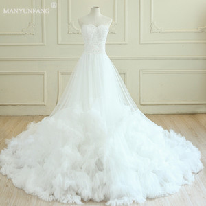 Wholesale Empire Wedding Dresses 2020 Detachable Spaghetti Embellished Tulle Skirt Sweetheart Neckline Romantic Royal Train Sexy Wedding Dresses