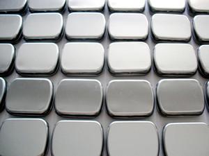 Hinge tin box Rectangle tin silver muji tin gift box sealing plain tin box 60x50x17mm