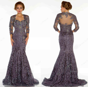 Hot Selling Sweep Train Lace Mermaid Mother of the Bride Dresses for Women In Stock