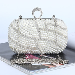 Wholesale ivory beaded clutch bag for sale - Group buy Factory Retaill brand new handmade fabulous beaded diamond evening bag clutch with satin pu for wedding banquet party porm