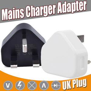 Wholesale UK Pin Mains Charger Plug V A UK USB Wall Charging Adapter Tablet PC Universal For iPhone XS Plus X Samsung Galaxy Note S9 S8