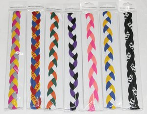 Wholesale hot selling quick dry sample epakcet new kint rope braided headbandBraided Hair Band Head Sweaty Headband Non Slip