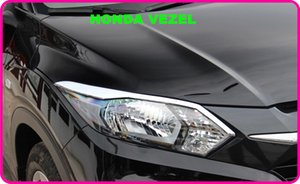 High quality ABS chrome 2pcs headlamp decorative trim + 4pcs taillight decorative trim For Honda Vezel 2015-2018