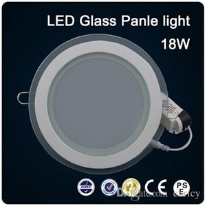 Wholesale 2016 New arrivals LED glass round W Panel Recessed Wall Ceiling Downlight AC85 V high bright SMD5730 LED indoor light