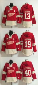Wholesale 2016 New Detroit Red Wings yzerman zetterberg datsyuk red Hoodies Jersey Drop Shipping Top Qulaity Low price Accept Mix orders
