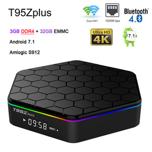 el jugador k al por mayor-T95Z más Amlogic S912 GB DDR4 Android TV Box Octa Core G WIFI BT4 K H m G G Smart Media Player T95Z