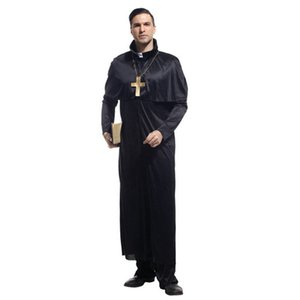 Wholesale Halloween Masquerade Ball Drama Clergyman Priest Cosplay Costume Adult Woman Party Fancy Dress Fun Party Decoration