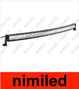 Wholesale led lights flood resale online - 2014 NEW curved LED light bar inch W led work light bar LED curved light bar cree chip with spot flood beam for offroad HSA1915