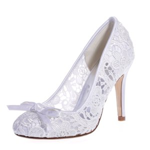 Wholesale 2019 Fashion Cheap Ivory White Black Wedding Shoes cm High Heels Women Prom Party Evening Wedding Bridal Dance Shoes