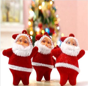 6 Pcs Lot Christmas Tree Decorations Mini Santa Claus Christmas Ornaments for Tree Hanging Accessories Ornaments for Home