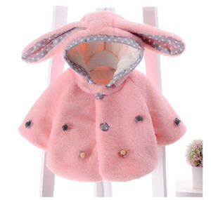 Baby Girl Winter Outwear Girl Fashion Christmas Poncho Mantle Cloak with Hat Kids Rabbit Tops Coat Cape Shawl Christmas Clothes Gift XCR 001 on Sale