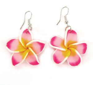 Wholesale earrings fimo for sale - Group buy Cheapest Fimo Frangipani Flower Drop Earrings Fimo Polymer Clay Flower Fashion Earrings Plastic Flower Jewelry