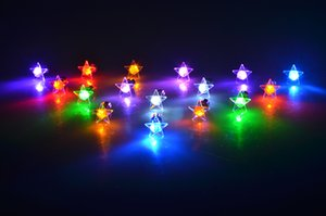 Wholesale Newest LED Earrings Cool Shinning Earrings LED Light Ear Studs stars Shaped Shiny Studs Glo Earring package in blister Christmas gift