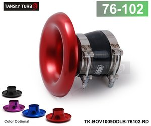 "TANSKY - ALUMINUM RED Inlet 4"" 102MM AIR INTAKE VELOCITY STACK TURBO HORN ADAPTER+SILICONE HOSE+CLAMP TK-BOV1009DDLB-76102(default is red)"
