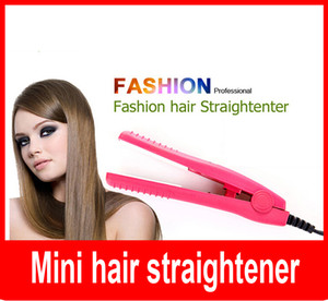 Wholesale mini portable professional car plug hair styling straightener flat iron Ceramic Plates for Traveling Camping