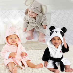 New Children's Clothing Baby Bathrobe Boys Girls Soft Velvet Robes Pajamas Coral Baby Clothes for kids Bathrobes pink black