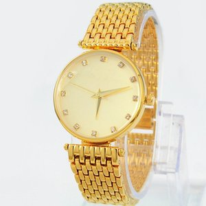 Wholesale Top quality women watch gold color Luxury wristwatch beautiful dress watches quartz movement New arrival Stainless steel fashion wristwatch