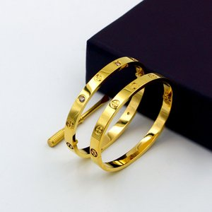 Wholesale Luxury Classic Design Cross Love Bracelets Bangles for woman With Screwdriver Lovers Wristband Bangle Rose Gold Titanium Screw cuff Bracelet