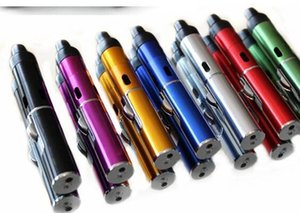 Wholesale In Stock smoking metal pipes Herbal portable Vaporizer for dry herb with built in Wind Proof Torch Lighter