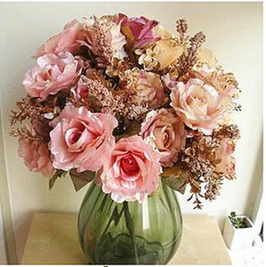 [Promotion] 13 manufacturers of high-end European-style flash powder sequined silk cloth roses Taobao hot models