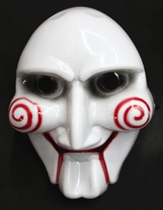 Wholesale saw puppet for sale - Group buy Electric Saw Mask Halloween Cosplay Party Saw Horror Movie Saw Billy Mask Jigsaw Puppet Adam Creepy Scary TY1537
