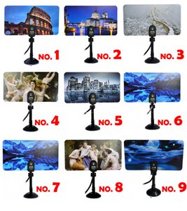 Wholesale 35 dBi TV antenna HDTV DTV HD VHF ANTENNA IEC F male cable indoor digital antenna connector