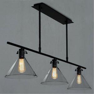 Modern Meridian Transparent Glass Chandelier Edison Light Bulb Funnel Pendant Lamp 2 3 head RH CLEAR GLASS FUNNEL MENT PENDANT LIGHTING