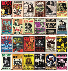 AC DC Chaplin The who Corona Toilet Damn Bob Marley Black Sabbath Frank Zappa Lennon Vintage Tin Sign Metal Poster Bar Pub Signs Wall decor